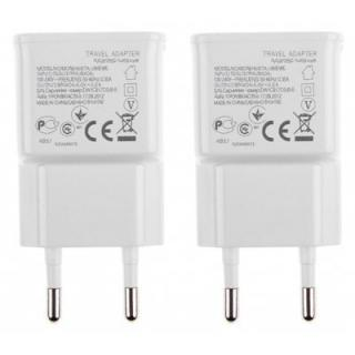 3 USB Ports EU Plug AC Charger Power Adaptor 2 PCS