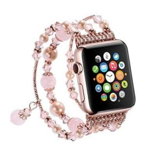Elastic Stretch Pearl Natural Stone Bracelet Replacement Strap Bands for Apple Watch Series 3 / 2 / 1 All Version 38mm