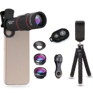 APEXEL APL-18DG3ZJB Cell Phone Camera Lens Kit 18X Telescope with Tripod Stand