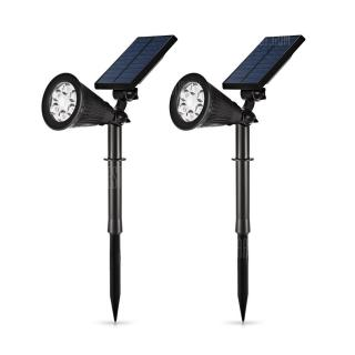 Pair of Solar Motion Sensor LED Light for Garden Yard