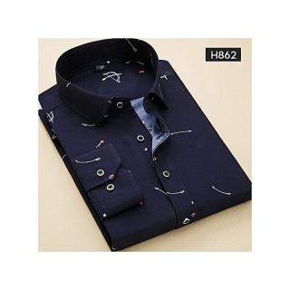 Men Casual Shirts Men Oxford Dress Shirt Youth Style-H862