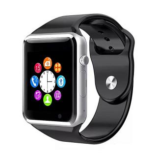A1 Bluetooth Smart Watch Sport Pedometer With SIM Slot Camera Smartwatch For Android IOS Phone--Silver+Black (1 Unit Per Customer)
