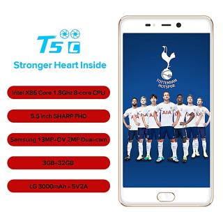 "T5c - 5.5"" - 4G/Dual SIM -32Go - 3Go - Android - Gold"