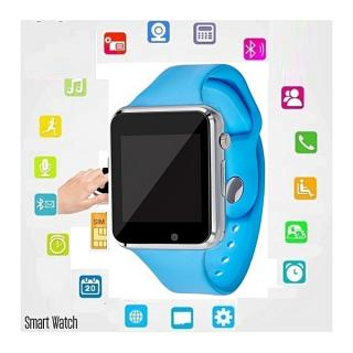 "Montre Watch connectée Haute Qualite Bluetooth écran tactile 1,5 "" - carte SIM-Micro Sd Androis et iOS Bracelet Sport -Bleu"