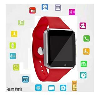 "Montre Watch connectée Haute Qualite Bluetooth écran tactile 1,5 "" - carte SIM-Micro Sd Androis et iOS Bracelet Sport -Rouge"
