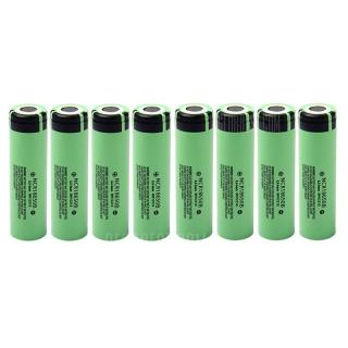 8pcs NCR18650B 3.7V 3400mAh 18650 Rechargeable Li-ion Battery