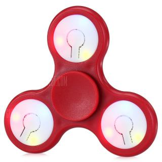Multi-color Push Button LED Tri-wing ABS Fidget Spinner