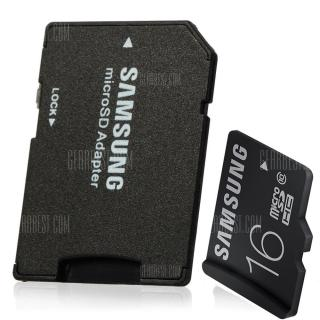 Original Samsung 16GB TF to SD Card Adapter Set with Micro SDHC Card Class 10