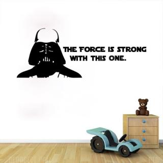 w-2 Darth Vader Alphabet Wall Stickers Removable