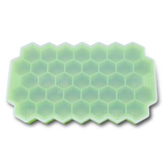 Honeycomb Style Silicone Ice Cake Mold with Lid
