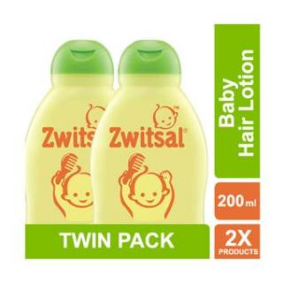 """ZWITSAL Natural Baby Hair Lotion Aloe Vera, Kemiri & Seledri 200 ml - Twin Pack [ ISI 2 Pcs ]"""
