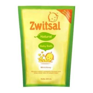Zwitsal Baby And Bath Milk & Honey Pouch 450ml