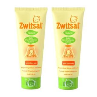 Zwitsal Natural Baby Skin Protector Lotion Tube 100ml - 2 Pcs