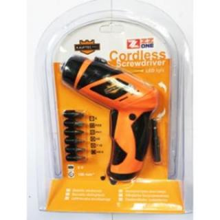 Mesin Bor Tanpa Kabel Cordless Screwdriver with LED Light