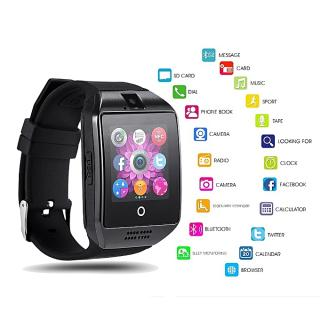 Grande Smart watch connectée Bluetooth & écran tactile & carte SIM & Camera noir