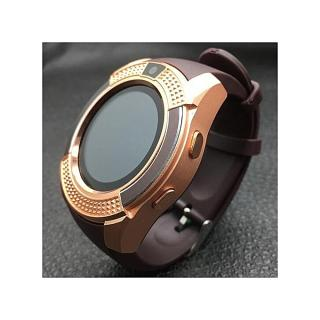 Smart Watch V8 - Carte SIM, Horloge,Caméra, Ecran tactile....Circulaire - GOLD