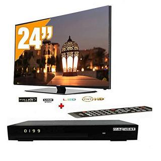 "Pack TV LED 24"" LE24B8500 - DVB-HDMI-USB VIDEO +  Récepteur Tv Offert - Noir"