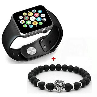 GT GT08 Smart Watch Montre Connectée avec carte sim - SILVER + Bracelets Lion Elegance