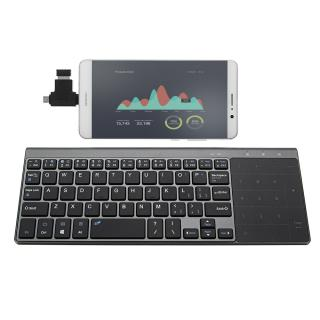 JP136 Ultra Thin 2.4GHz Wireless Keyboard with Touch Pad for Laptops Desktop Computers