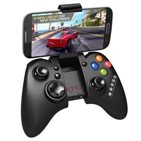 iPega PG-9021 Rechargeable Multimedia Bluetooth Controller with Telescopic Stand for iPhone/Android Smartphone Tablet PC Black