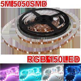 5M 5050 150 SMD RGB Super Bright Waterproof LED Strip Light