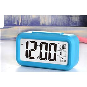 LED Backlight Lazybones Alarm Clock with Photosensitive Sensor