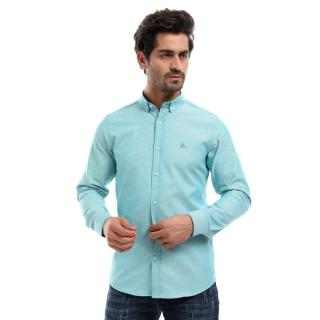 Oxford Mens Shirt_Dark Turquoise