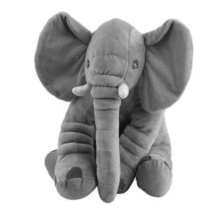 Stuffed Animal Cushion Kids Baby Sleeping Soft Pillow Toy Cute Elephant Cotton -gray