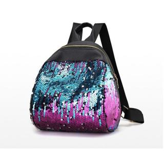 Tectores Fashion Accessories Women Girl Backpack Travel Rucksack Shoulder Shiny Sequins School Bags PP
