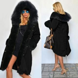 Women Hooded Winter Warm Thick Faux Fur Coat