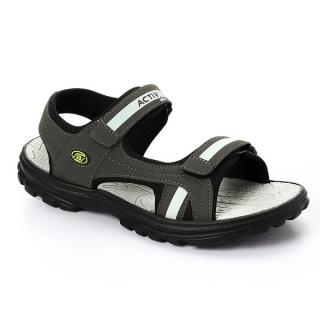 Leather Grey Men's Sandals