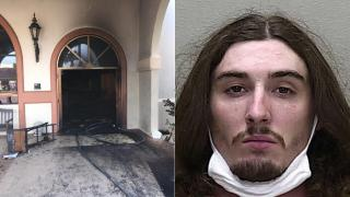 Florida man crashes into church, sets it on fire with parishioners inside, sheriff says