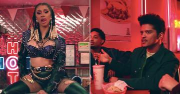 "Like Any Great Love Story, Cardi B and Bruno Mars Flirt Over Tacos in the ""Please Me"" Video"