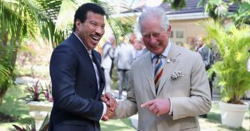 Prince Charles Giggled With Lionel Richie All Day and All Night Long in Barbados