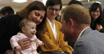 Prince Harry Visited the YMCA, Hung Out With All the Boys . . . and an Adorable Baby