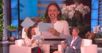 "Jennifer Garner Manages to Remain Totally Adorable While Playing ""Speak Out"" With Ellen"