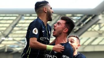 Brighton 1-4 Man City: Visitors come from behind to clinch title
