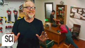 Can You Barricade a Door with Furniture | MythBusters Jr.