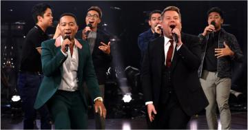 James Corden Threatens to Seduce John Legend's Dad in This Musical Riff-Off