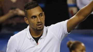 Joking Kyrgios entertains crowd on way to reaching Washington final