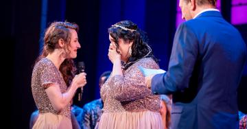 An Onstage Wedding Brings a Broadway Happy Ending to Life