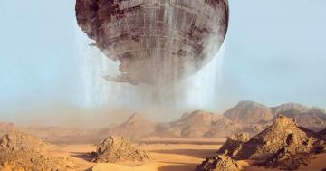 Death Star Rises from the Sands of Jakku in Crazy Unused Force Awakens Concept Art
