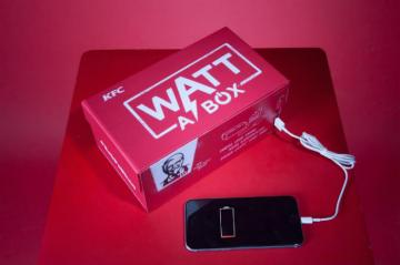 KFC Watt A Box Lets You Charge Your Phone While Eating Chicken