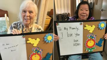 Washington nursing home residents lift spirits during coronavirus lockdown with personal notes to families
