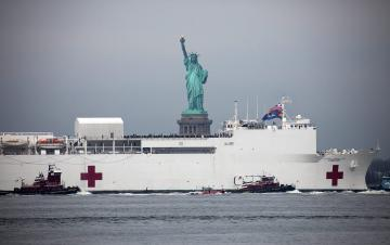 Coronavirus patients delivered to hospital ship Comfort in New York by mistake: US officials