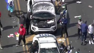 Philadelphia faces looting, police cars ransacked as Trump demands 'Law & Order'
