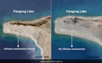 Partial Chinese Withdrawal From Fingers Area Along Pangong: Satellite Pics