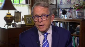 A test ahead of Mike DeWine's planned meeting with the President in Cleveland today revealed that he is positive for Covid-19