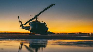 Military helicopter shot at over northern Virginia, crew member injured