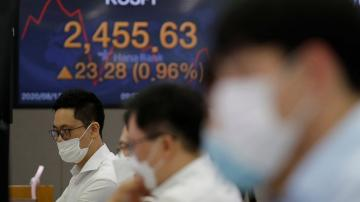 Asian shares mixed on weak China data, worries over pandemic